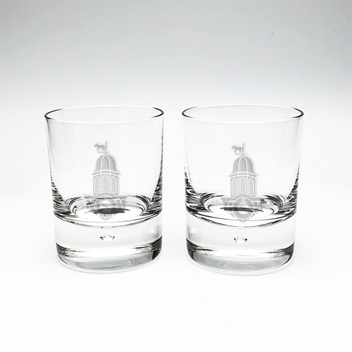 Crystal Double Old Fashioned (pair)- Crag Burn