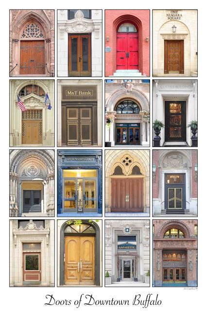 Doors of Downtown Buffalo- Framed