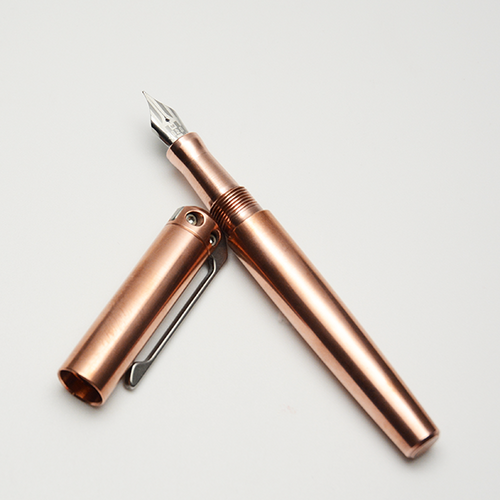 copper karas ink fountain pen, polished