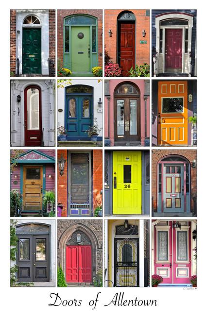 Doors of Allentown- Framed