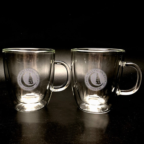Double Wall Glass Mugs (pair)- Holland Society