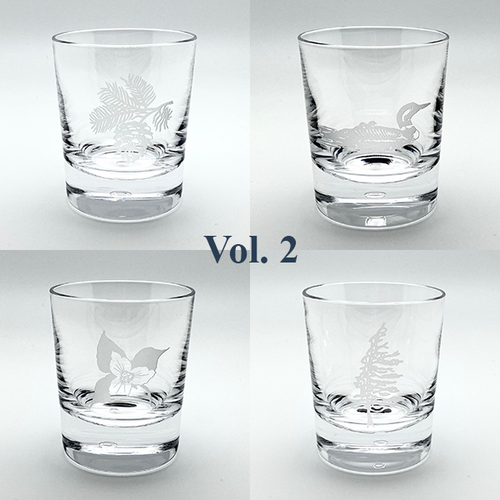 Northern Collection- Crystal Bar Glasses Vol. 2- Mixed set of four