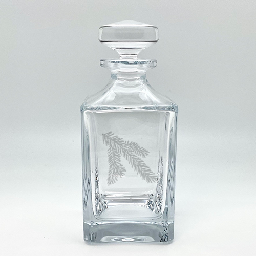 Northern Collection- Crystal Square Spirits Decanter- Evergreen