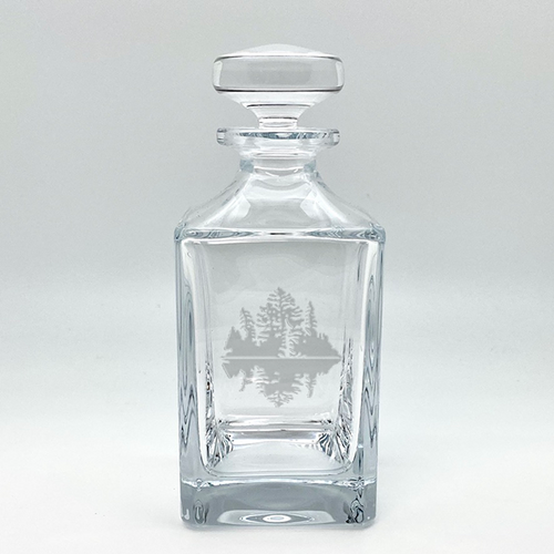Northern Collection- Crystal Square Spirits Decanter- Island