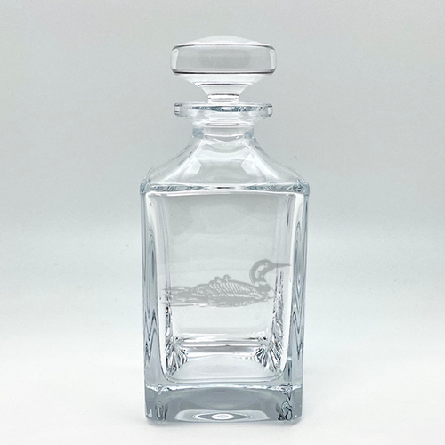 Northern Collection- Crystal Square Spirits Decanter- Loon