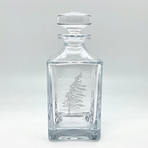 Northern Collection- Crystal Square Spirits Decanter- Tree