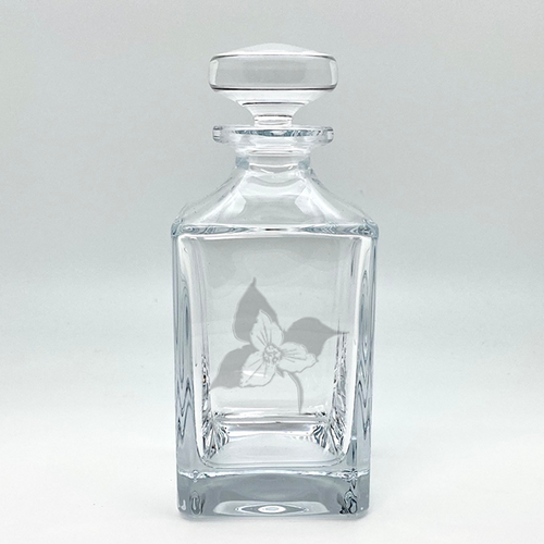 Northern Collection- Crystal Square Spirits Decanter- Trillium