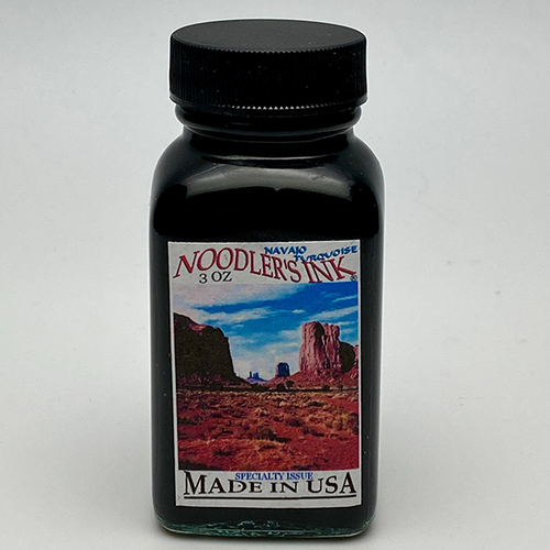 Noodler's Navajo Turquoise Fountain Pen Ink 3oz