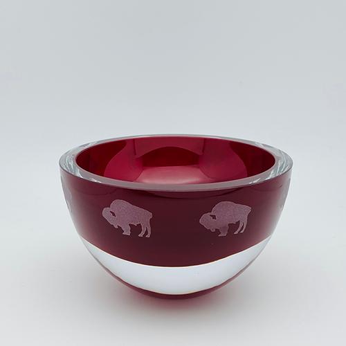 Penelope Red Bowl - Buffalos