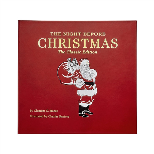 The Night Before Christmas  Genuine Leather Bound
