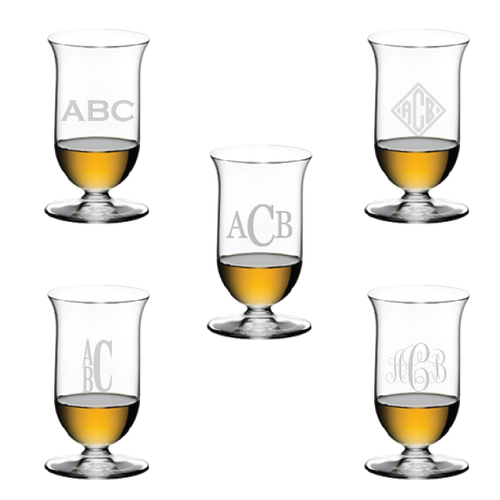 Riedel Single Malt, pair - Monogrammed