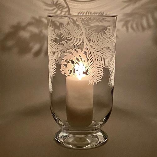 Pine Cone Storm Lanterns