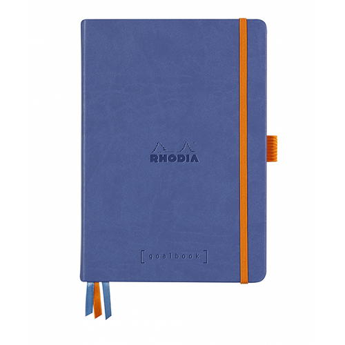 Rhodia Dot Grid Goalbook A5- Hardcover Sapphire