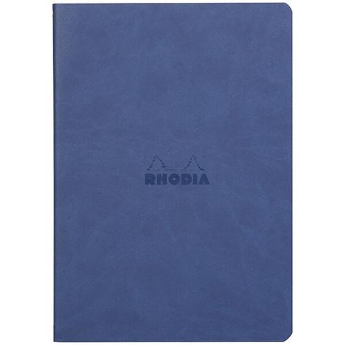 Rhodiarama Dot Grid Sewn Sprine Notebook- Sapphire