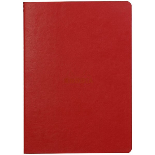 Rhodiarama Dot Grid Sewn Sprine Notebook- Poppy Red