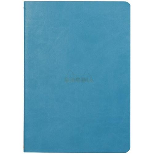 Rhodiarama Dot Grid Sewn Sprine Notebook- Turquoise