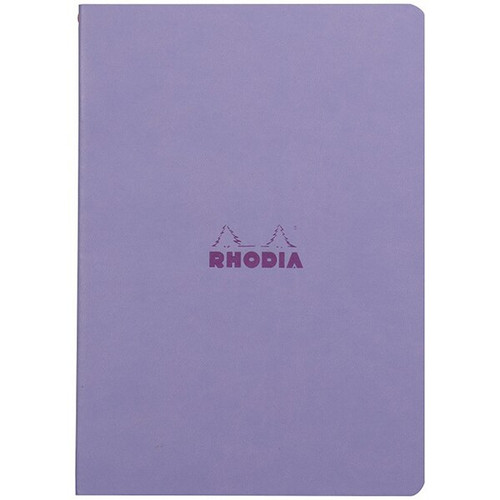 Rhodiarama Dot Grid Sewn Sprine Notebook- Iris