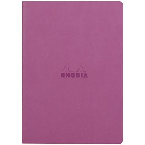 Rhodiarama Dot Grid Sewn Sprine Notebook- Lillac