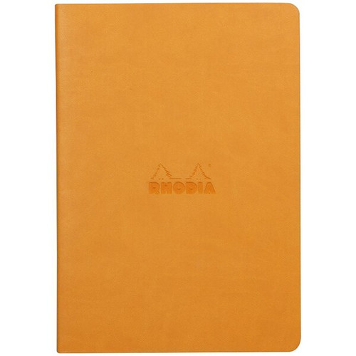 Rhodiarama Dot Grid Sewn Sprine Notebook- Orange