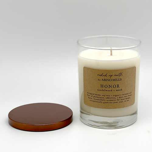 Naked Up North for Abino Mills- Honor Candle