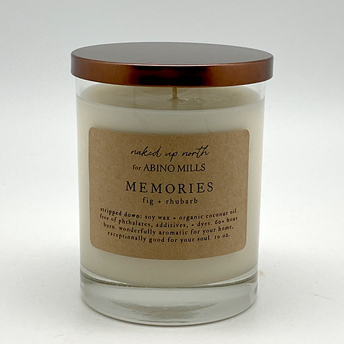 Naked Up North for Abino Mills- Memories Candle