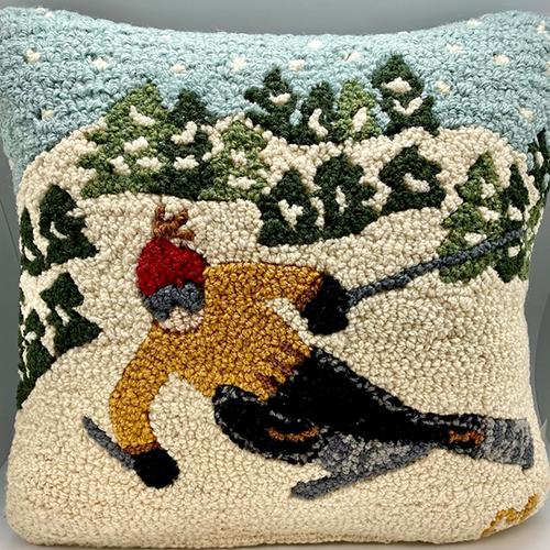 Tree Skier Pillow