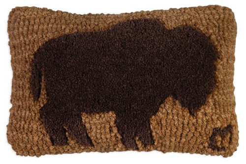 Buffalo (Tuffted) - Hooked Wool Pillow
