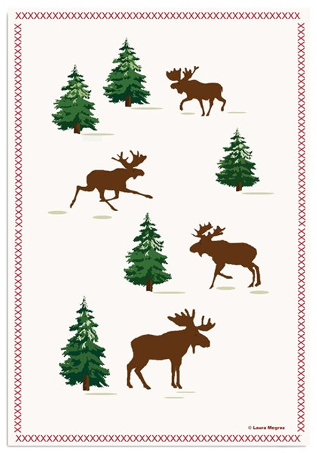 Kitchen Towel- Moose on the loose