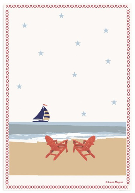 Kitchen Towel- Sail On By