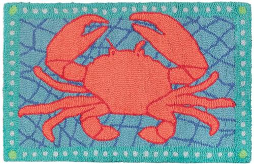 Crab Net - Hooked Wool Rug