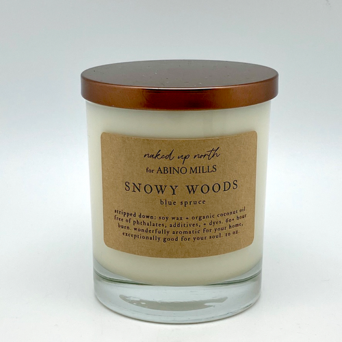 Naked Up North for Abino Mills- Snowy Woods Candle
