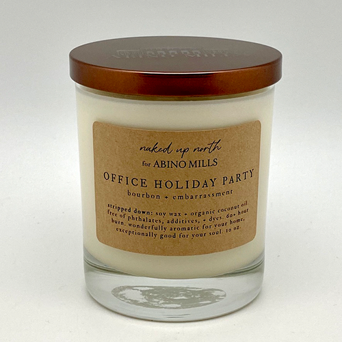 Naked Up North for Abino Mills- Office Holiday Party Candle