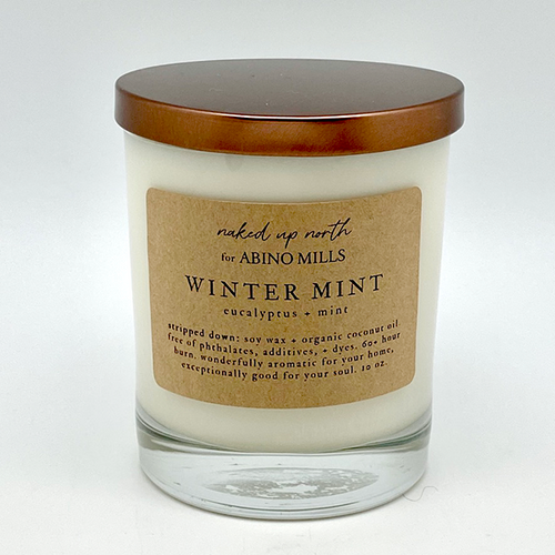 Naked Up North for Abino Mills- Winter Mint Candle