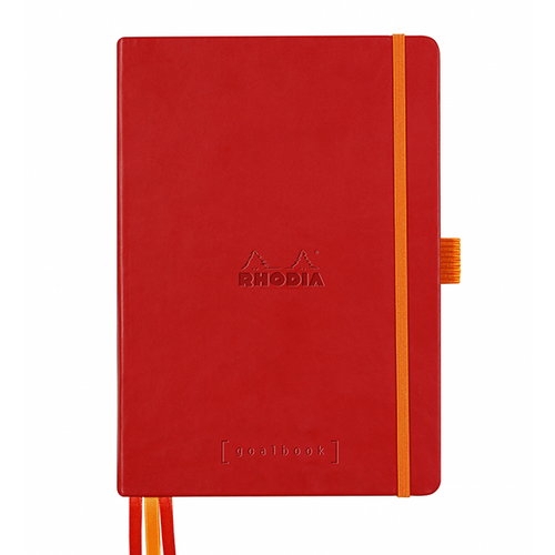 Rhodia Dot Grid Goalbook A5- Hardcover Poppy Red