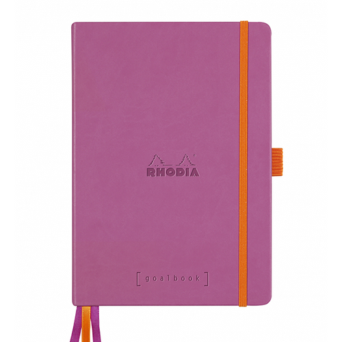 Rhodia Dot Grid Goalbook A5- Hardcover Lilac