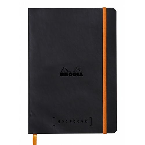Rhodia Dot Grid Goalbook- Softcover Black