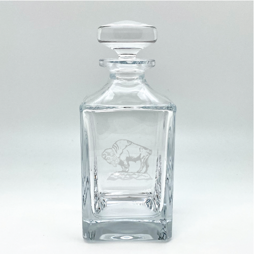 Buffalo Collection- Crystal Square Spirits Decanter