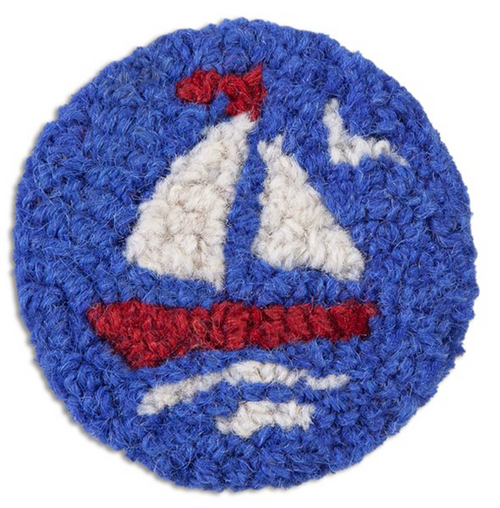Red Sailboat - Wool Coasters