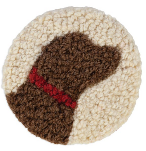 Chocolate Lab - Wool Coasters