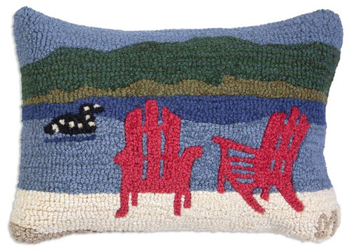 Loon Lake Chairs - Hooked Wool Pillow