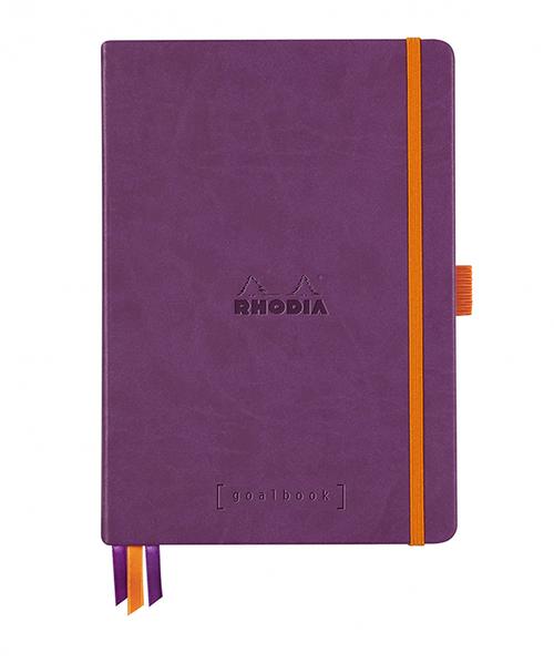 Rhodia Dot Grid Goalbook A5- Hardcover Purple