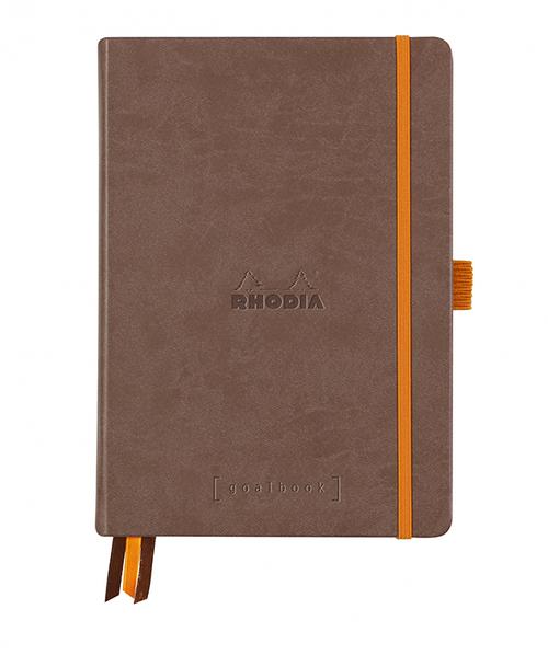 Rhodia Dot Grid Goalbook A5- Hardcover Chocolate