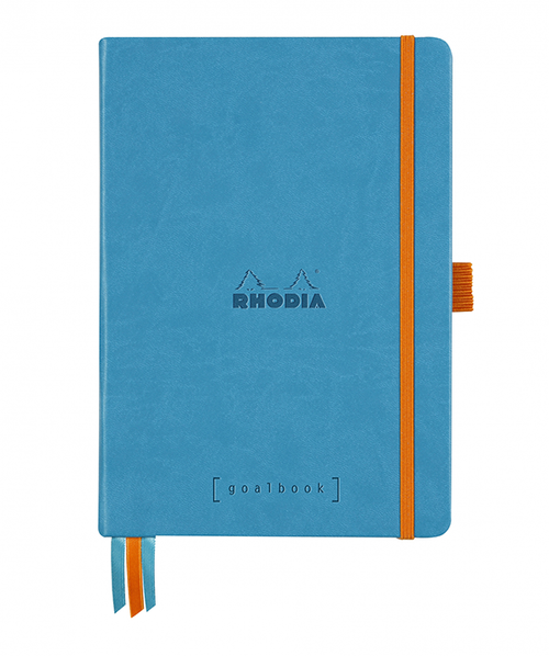 Rhodia Dot Grid Goalbook A5- Hardcover Turquoise