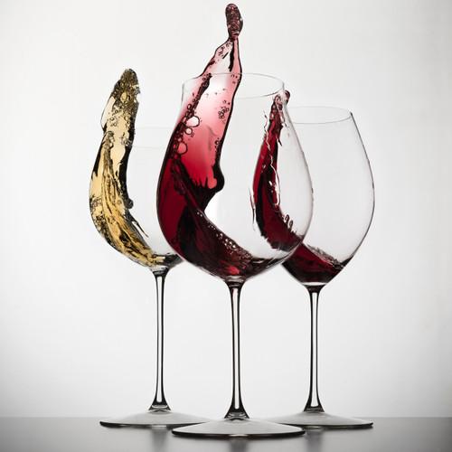 Custom Etched Riedel Vinum Wine Glasses for Sale | Abino Mills Glassworks
