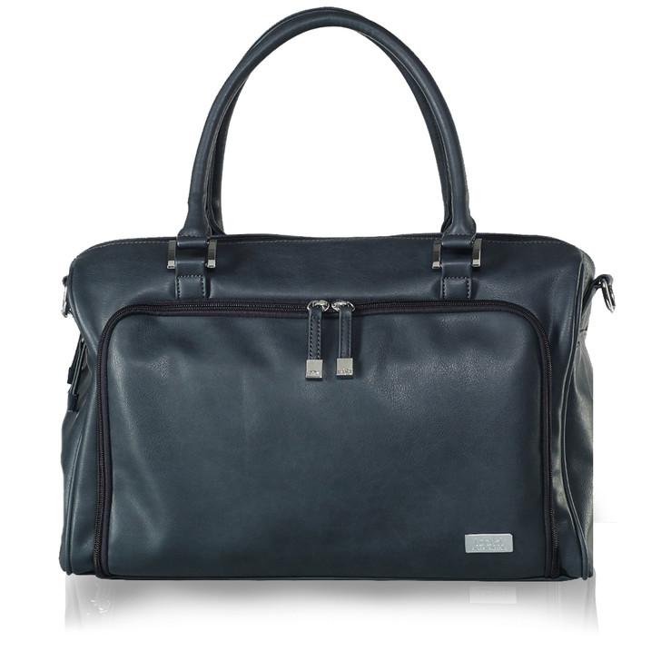 Double Zip Satchel Changing Bag Charcoal