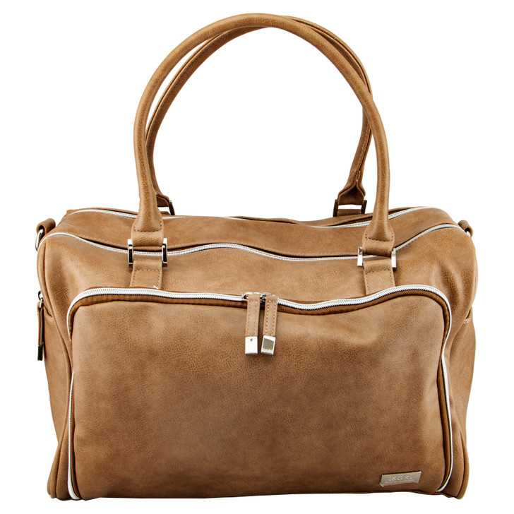 Double Zip Satchel - Latte