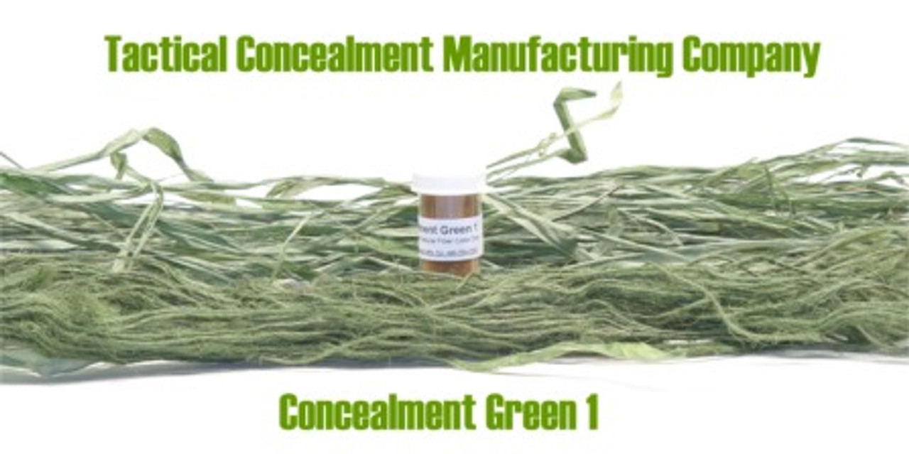Concealment Green 1 / Industrial Color Dye (ghillie suit construction)