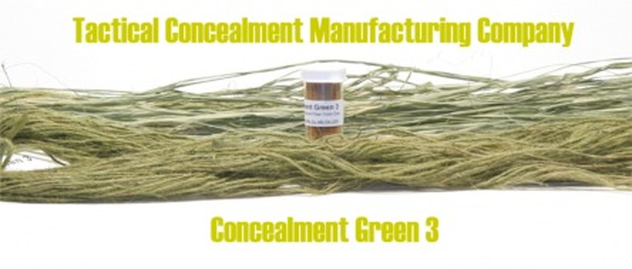 Concealment Green 3 / Industrial Color Dye (ghillie suit construction)