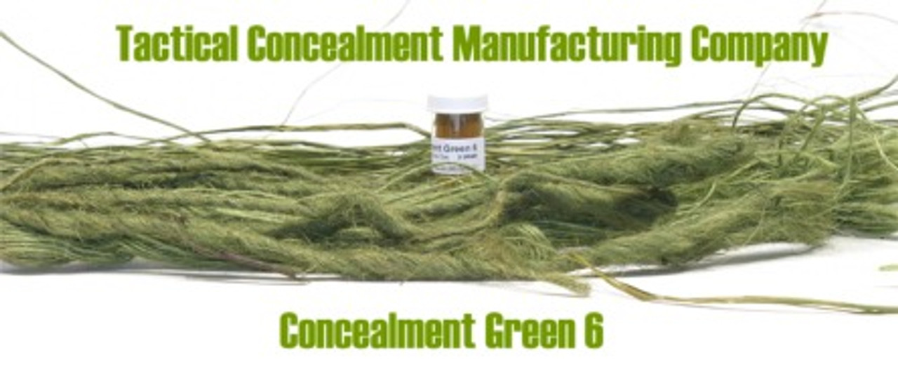 Concealment Green 6 / Industrial Color Dye (ghillie suit construction)