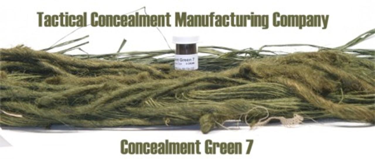 Concealment Green 7 / Industrial Color Dye (ghillie suit construction)
